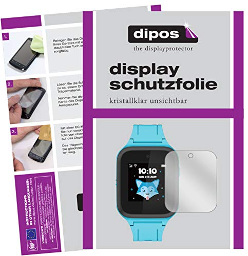 dipos I Schutzfolie kompatibel mit TCL Movetime Family Watch MT40S Displayschutz-Folie klar