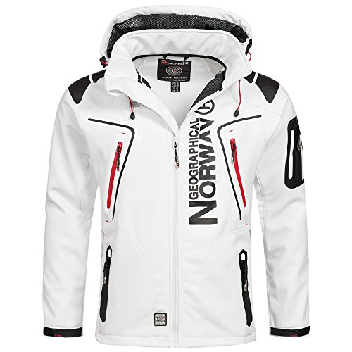 Geographical Norway Techno Herren Softshell Jacke Weiß Gr. S