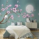 Küche Haushalt Wohnen Chinesische Art Magnolie Blumen Vogel Wandbild Tapete -400 * 280cm