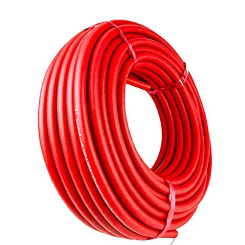 LOKIH Rubber Hose Oxygen Tube Acetylene Tube Wind Gun Tube Air Tube Oxygen Welded Tube Soft and Light, Anti-Aging,Red,8mmx14mmx50m