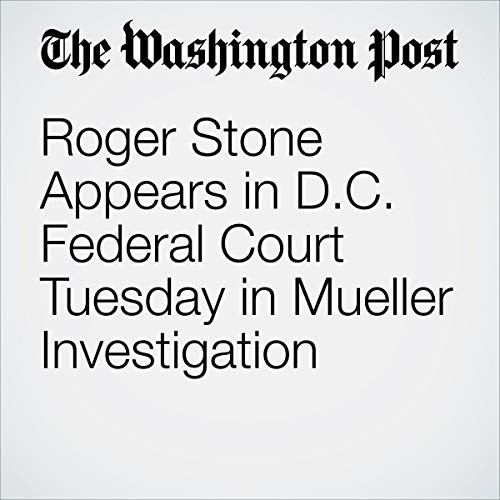 Roger Stone Appears in D.C. Federal Court Tuesday in Mueller Investigation audiobook cover art