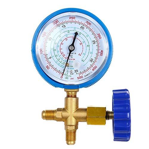 IGOSAIT Condizionatore Collettore Digital Pressure Manometro Refrigerazione Strumento di Fluoro Pressione Pressione Calibro R410 Riempimento refrigerante (Color : Blue)