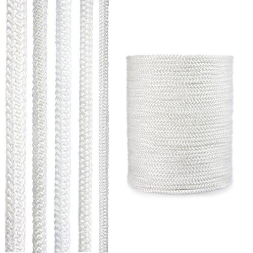 STEIGNER Ofendichtschnur Kamindichtung aus GLASFASERN, hitzebeständig bis 550°C, Weiss, 2,5m, 10mm, SKD02
