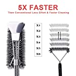 Qomolo Grill Brush 3 in 1 BBQ Grill Brush with Strong Stainless Steel Scraper Grill Cleaning Brush for Charcoal Electric… 10