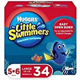 Huggies Little Swimmers Swim Diapers, Size 5-6 Large, 34 Count (2 Packs of 17)...