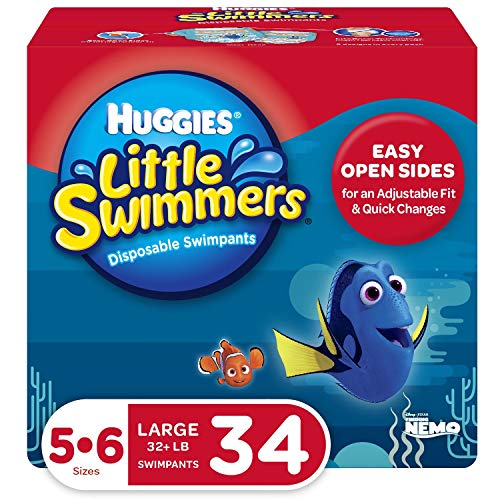 Huggies Little Swimmers Swim Diapers, Size 5-6 Large, 34 Ct (Packaging May Vary)