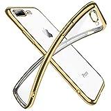 iPhone8Plus ケース iPhone7Plus ケースクリア 透明 tpu シリコン メッキ加工 スリム 薄型 5.5……