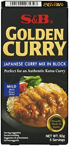 S&B Golden Curry mild – Japanische Gewürzmischung zur Zubereitung von Curry-Gerichten – 1 x 92 g