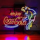 Enjoy CocaCola - con luz de neón, Póster, diseño de faro de cerveza, Lámpara de Neón Para Familia, Dormitorio, Bar, Hotel, Playa, Sala de Juegos, Decoración.45 cm x 37 cm