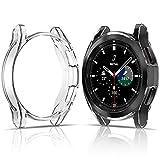 FITA [2 Piezas] Funda Compatible con Samsung Galaxy Watch 4 Classic Protector de Pantalla 42MM, Suave TPU Cubierta Cover Case Compatible con Galaxy Watch 4 Classic Carcasa Protectora,42mm