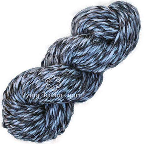 Living Dreams Yarn Armstrong Extra Soft Chunky Merino Yarn for Quick Knitting & Crochet Projects. Color: 5 Shades of Gray