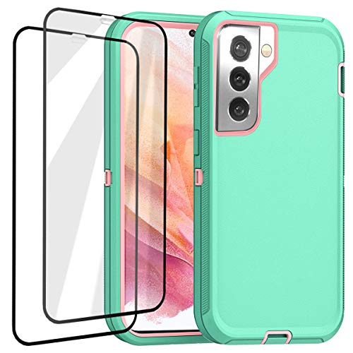 AICase for Galaxy S21 Case with Screen Protector, Heavy Duty Drop Protection Full Body Rugged Shockproof/Dust Proof 3-Layer Military Protective Tough Durable Phone Cover for Samsung Galaxy S21