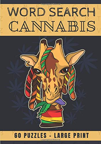 Cannabis word search: Challenging Puzzle, Activity book For adults | 60 puzzles with word searches and scrambles | Find more than 400 words`| Large ... | Funny Gift for Stoner, Friends, Family.
