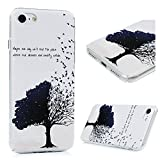 iPhone 7 Case, iPhone 8 Case (4.7'), YOKIRIN Printed Slim Fit & Lightweight Flexible Hard PC Back Protective Cover Transparent Crystal Clear Scratch-Proof Bumper Case for iPhone 7/8 - Tree & Birds