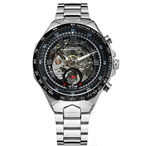 Hombres Relojes de Oro Reloj mecánico automático Reloj de Pulsera Esqueleto Masculino Banda de Acero Inoxidable Marca de Lujo Diseño Deportivo