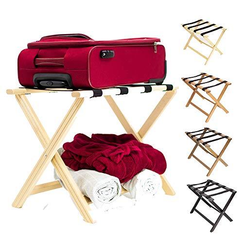 ZStyle Porta valigie Naturale portavaligia reggivaligie Legno Camera Letto arredo Design faggio B&B albergo Hotel