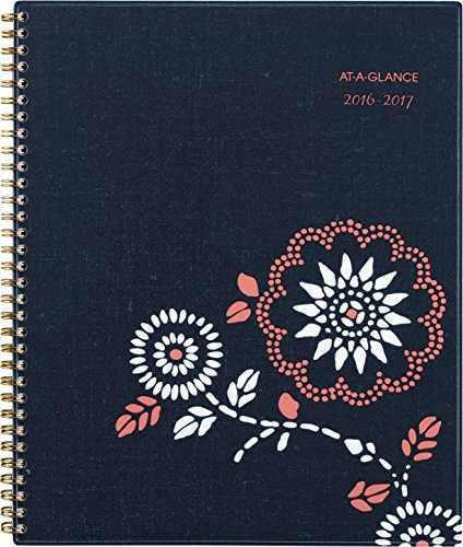 """AT-A-GLANCE Academic Year Weekly/Monthly Planner/Appointment Book, July 2016 - June 2017, 8-1/2""""x11"""", Nikko (190-905A)"""