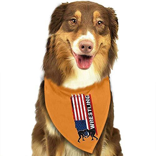 Strawberryran Amercian Wrestling Dog Cat Bandanas-1pc Waschbares Dreieck Lätzchen Halstücher Schal Halstuch