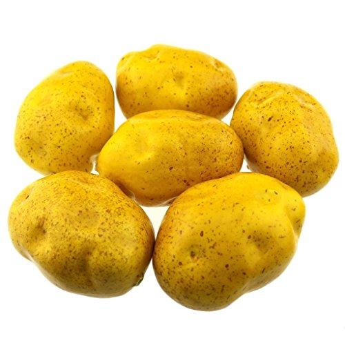 Gresorth 6 Stück Künstliche Lebensechte Kartoffel Deko Gefälschte Gemüse Party Festival Dekoration