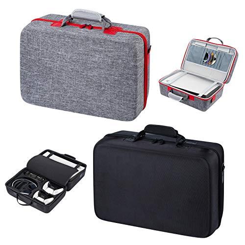 Estojo de transporte para PS5 rígido estojo de transporte, bolsa de armazenamento à prova de choque e à prova d'água para PS5, capa protetora portátil compatível com console PS5, controlador duplo e acessórios (preto)