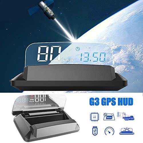 Head up Display GPS HUD para automóvil, sistema GPS iKiKin de 5,5 pulgadas Tablero de pantalla transparente 4K HD Pantallas HUD Alarma de velocímetro