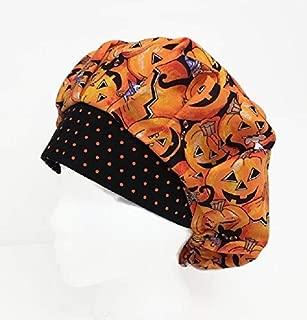 Bouffant Scrub Cap Cat & Mouse Scrub Hat OR Hats Womens Scrub Caps Halloween Scrub Hat