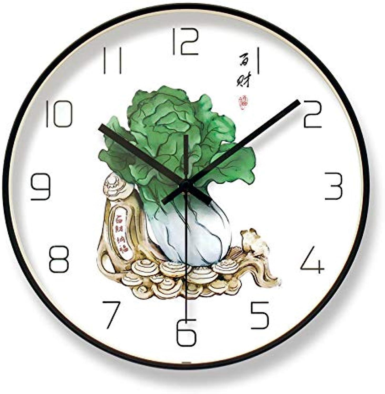 Entrega directa y rápida de fábrica Tai&xin Reloj Reloj Reloj Mudo Reloj De La Personalidad De La Moda Creativa Arte Moderna Simplicidad De La Decoración del Reloj De La Fortuna Hogar Reloj 12 Pulgadas  en venta en línea