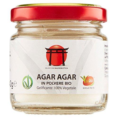 VVB Agar Agar In Polvere Bio, 40 gr (Confezione da 6 pezzi)