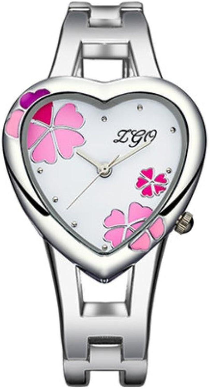 XM Ms students watch the leaves heartshaped Bracelet Watch girls fashion bracelet quartz watch , pink