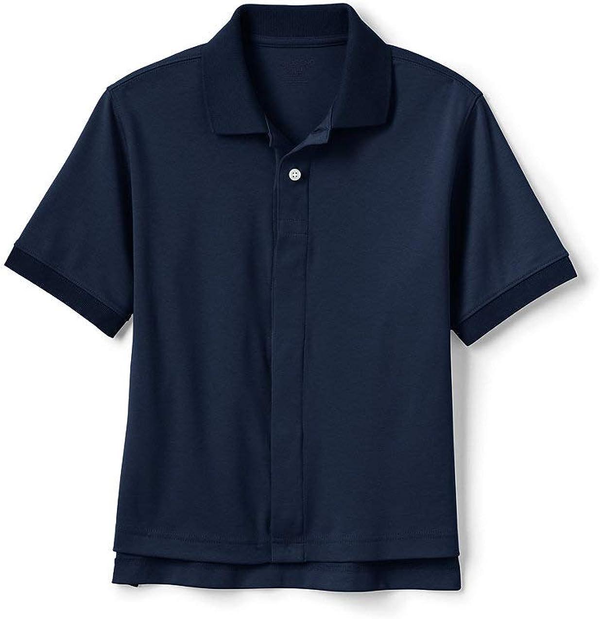 Lands' End School Uniform Kids Adaptive Short Sleeve Interlock Polo Shirt
