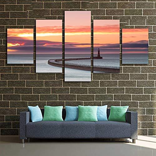 Cczxfcc, canvas met HD-druk en decoratief schilderij, 5 stuks, voor de vloer van het bed of het bed 20x35/45/55cm-contiene Telaio