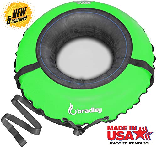 Bradley Snow Tube with 50' Cover | Heavy Duty Inflatable Sledding Tubes (Green)