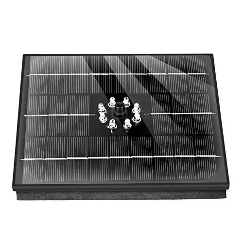 Solar Springbrunnen mit LED, 12V 4W Solar Panel, Solar Springbrunnen, Solar Teichpumpe Garten Wasserpumpe, Wasserpumpe Solar Pumpe, Solar schwimmender Fontäne Pumpe für Garten, Vogel Bad, Teich