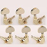 Musiclily 3x3 Epi Style Sealed Guitar Tuners Tuning Pegs Keys Machine Heads Set for Epiphone Les Paul Style Electric Guitar or Acoustic Guitar, Half Moon Button Gold