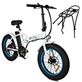 "ECOTRIC Electric 4"" Fat Tire Bicycle Folding Bike 36V 12Ah 500W Lithium Battery Beach Snow..."