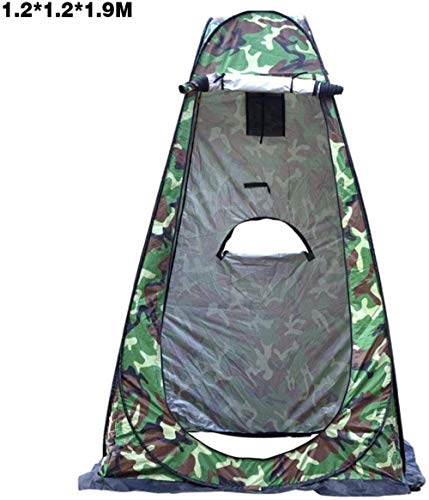 LIKEJJ Rain Shelter Tent,Portable, toilet changing room outdoor fishing privacy tent outdoor shaded picnic-1.2 * 1.2 * 1.9m camouflage