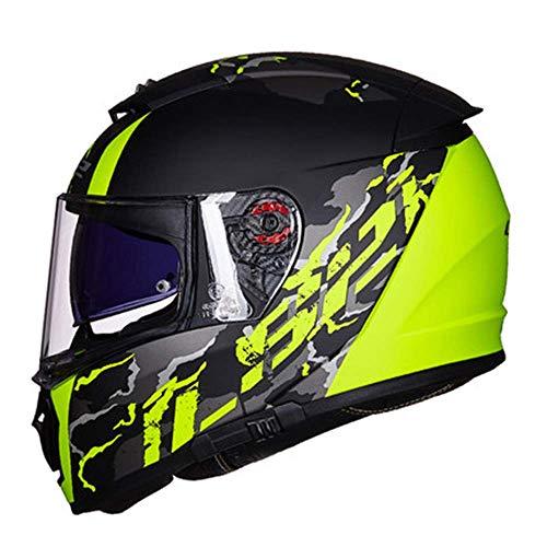 Cross Country Motorcycle Helmet Scooter Sporthelm Men's Off-Road Racing Collision Helm Ingebouwde zonnebril Women's Riding Protective Gear Bluetooth Headset kan worden geïnstalleerd uitneembare voerin
