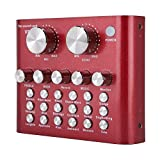 V8 Live Sound Card Voice Changer, Multiple Funny Sound Effects, Ouying Audio Mixer for Phone iPad...