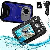 PELLOR Appareil Photo Enfants Etanche Mini Caméra Numérique Rechargeable Anti-Choc avec Carte 16GB...