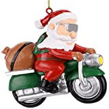 Tree Buddees Biker Santa Claus Motorcycle Christmas Tree Ornament