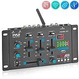 Wireless DJ Audio Mixer - 3 Channel Bluetooth Compatible DJ Controller Sound...
