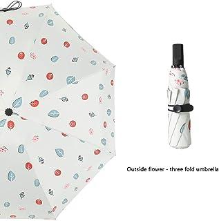 LPKH Umbrella Fast Drying Folding Travel Umbrella,Anti UV Coating Folding Umbrella Parasol (Color : Beige, Size : 100X58cm)