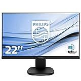 Philips 223S7EJMB Monitor 22' LED IPS, Full HD, Regolabile in Altezza, Girevole, Pivot, Inclinabile, Hub USB, Casse Audio Integrate, Softblue Protezione Occhi,  Display Port, HDMI, VGA, Vesa, Nero