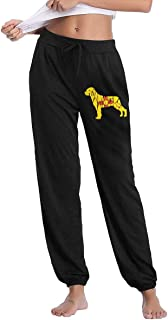 Womens Casual Sweatpants New Mexico Flag Rottweiler Dog Jogger Sweatpants Trousers Elastic Waist Pants