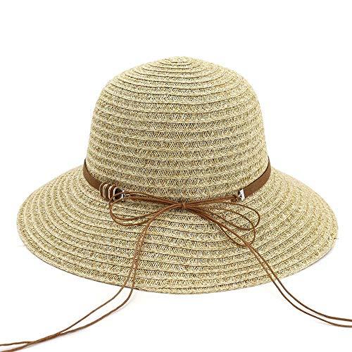 2019 Hat, zonnehoed voor dames, voor de zomer, van stro, eenvoudig inklapbaar, handgemaakt, gehaakt, vliegen, strandhoed