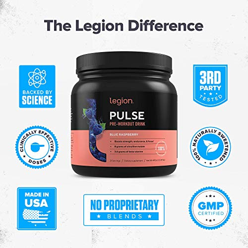 Legion Pulse Natural Pre Workout Supplement