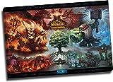 Trelemek World of Warcraft - Póster de cataclismo (60,96 x 40,64 cm, con marco de madera, listo para colgar)