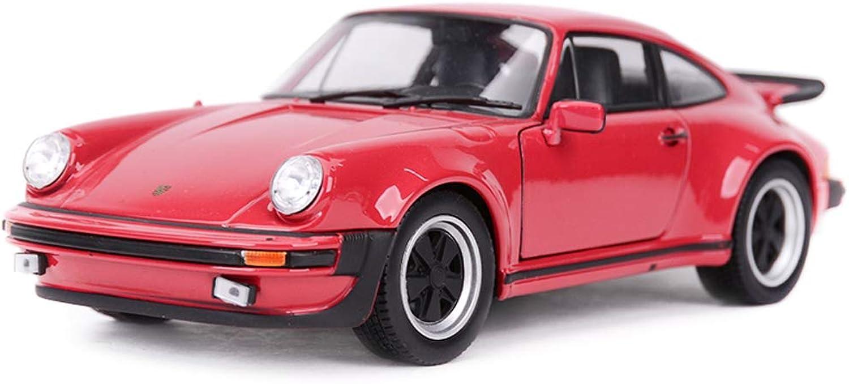 Hyzb Sportwagen Metall Modellauto Ornamente, Simulation 1 24 Porsche 911 Alloy Modellauto Collection Crafts