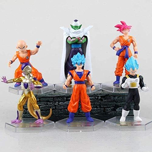 Modelo de personaje de dibujos animados anime MANG Figuras infantiles Modelo Juguetes, Figura de acción Dragon Ball Carácter 6 Edición de Resurrección Super Racer Krillin Animated Model Statue 10cm