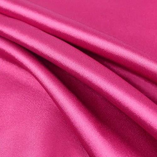 Novato Textiles New Premium Duchess Braut-Satin-Stoff, Brautkleid, Abschlussball, Material, Krepp-Rückseite, 54 cm breit, Hot Pink, 3 m
